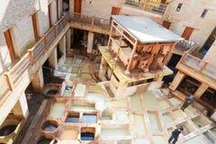 Παραδοσιακός φλοιός δέρματος στο Fez, Μαρόκο Στοκ Εικόνα