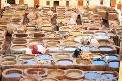 Παραδοσιακός φλοιός Chouwara στο Fez, Μαρόκο Στοκ φωτογραφίες με δικαίωμα ελεύθερης χρήσης