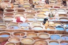 Παραδοσιακός φλοιός Chouwara στο Fez, Μαρόκο Στοκ Εικόνες