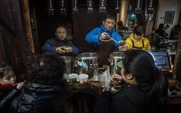Παραδοσιακός φραγμός πρόχειρων φαγητών ναών Κομφουκίου Στοκ φωτογραφία με δικαίωμα ελεύθερης χρήσης