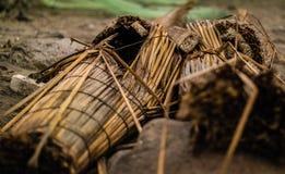 Παραδοσιακό αλιευτικό σκάφος καλάμων, Huanchaco, Περού στοκ φωτογραφίες