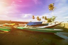 Παραδοσιακό αλιευτικό σκάφος, ξύλινη βάρκα, ξύλινο κανό στοκ εικόνα με δικαίωμα ελεύθερης χρήσης