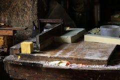 Παραδοσιακό ατελιέ σαπουνιών στην Τρίπολη, Λίβανος Στοκ Φωτογραφίες