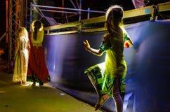 Παραδοσιακό βεδικό φεστιβάλ Vaishnava - το φεστιβάλ των αρμάτων Ratha Yatra στο Dnieper στοκ φωτογραφία