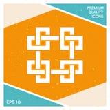 Παραδοσιακό γεωμετρικό ασιατικό αραβικό σχέδιο Στοιχείο για το σχέδιό σας - λογότυπο Στοκ Φωτογραφίες