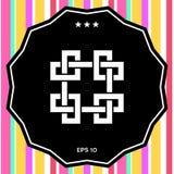 Παραδοσιακό γεωμετρικό ασιατικό αραβικό σχέδιο Στοιχείο για το σχέδιό σας - λογότυπο Στοκ εικόνα με δικαίωμα ελεύθερης χρήσης