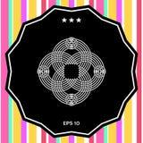 Παραδοσιακό γεωμετρικό ασιατικό αραβικό σχέδιο Στοιχείο για το σχέδιό σας, λογότυπο Στοκ εικόνα με δικαίωμα ελεύθερης χρήσης