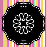 Παραδοσιακό γεωμετρικό ασιατικό αραβικό σχέδιο στοιχείο σχεδίου σας ΛΟΓΟΤΥΠΟ Στοκ Εικόνα