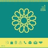 Παραδοσιακό γεωμετρικό ασιατικό αραβικό σχέδιο στοιχείο σχεδίου σας ΛΟΓΟΤΥΠΟ Στοκ Εικόνες