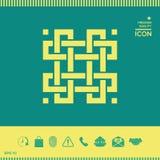 Παραδοσιακό γεωμετρικό ασιατικό αραβικό σχέδιο στοιχείο σχεδίου σας logotype Στοκ Φωτογραφία