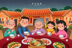 Παραδοσιακό γεύμα συγκέντρωσης ελεύθερη απεικόνιση δικαιώματος