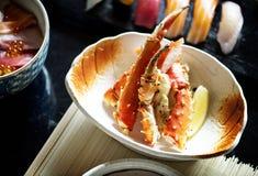 Παραδοσιακό ιαπωνικό πιάτο ποδιών καβουριών βασιλιάδων Στοκ Εικόνες