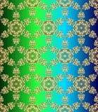 Παραδοσιακό ινδικό ύφος, διακοσμητικά floral στοιχεία Διανυσματική απεικόνιση του χρυσού άνευ ραφής σχεδίου mehndi διανυσματική απεικόνιση