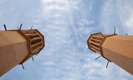 Παραδοσιακό ιρανικό Louver Badgir σε Yazd στοκ εικόνα με δικαίωμα ελεύθερης χρήσης
