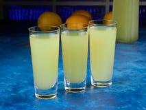 Παραδοσιακό ιταλικό limoncello ή limoncino ηδύποτου στοκ εικόνα με δικαίωμα ελεύθερης χρήσης