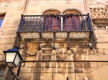 Παραδοσιακό μπαλκόνι, Poble Espanyol, Βαρκελώνη, Καταλωνία, Ισπανία στοκ εικόνα