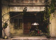 Παραδοσιακό μπροστινό μέρος Penang με μια δίτροχο χειράμαξα Στοκ φωτογραφίες με δικαίωμα ελεύθερης χρήσης