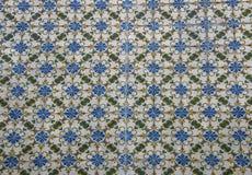 Παραδοσιακό πορτογαλικό azulejo κεραμικών κεραμιδιών υπόβαθρο από το azulejo Στοκ Φωτογραφίες