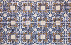 Παραδοσιακό πορτογαλικό azulejo κεραμικών κεραμιδιών υπόβαθρο από το azulejoo Στοκ φωτογραφία με δικαίωμα ελεύθερης χρήσης