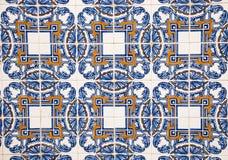 Παραδοσιακό πορτογαλικό azulejo κεραμικών κεραμιδιών υπόβαθρο από το azulejo Στοκ Εικόνες