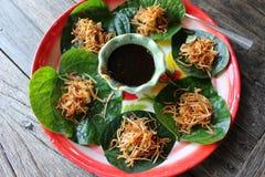 Παραδοσιακό ταϊλανδικό επιδόρπιο με την καρύδα Στοκ φωτογραφία με δικαίωμα ελεύθερης χρήσης