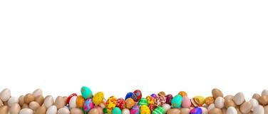 Παραδοσιακό χρωματισμένα αυγά Στοκ Φωτογραφία
