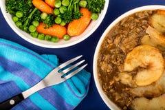 Παραδοσιακό Casserole Lancashire Hotpot αρνιών Στοκ εικόνες με δικαίωμα ελεύθερης χρήσης