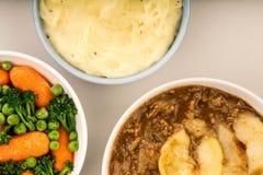 Παραδοσιακό Casserole Lancashire Hotpot αρνιών Στοκ Εικόνες