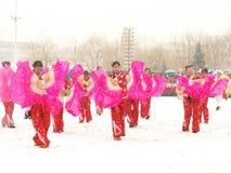 παραδοσιακό yangge χιονιού χο Στοκ Εικόνα