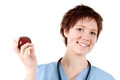 Παραδώστε το μήλο στοκ εικόνες με δικαίωμα ελεύθερης χρήσης
