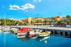 Παραθεριστική πόλη Crikvenica Istria, Κροατία στοκ φωτογραφίες