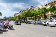 Παραθεριστική πόλη οδών του AO Nang. Στοκ Εικόνα