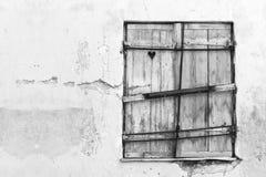 παραθυρόφυλλο καρδιών Στοκ φωτογραφίες με δικαίωμα ελεύθερης χρήσης