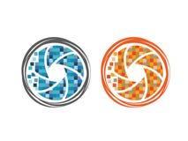 Παραθυρόφυλλα καμερών εικονοκυττάρου Στοκ εικόνα με δικαίωμα ελεύθερης χρήσης