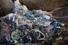 Παρακαλώ μην αφήστε οποιοδήποτε πλαστικό στην παραλία, καλοκαιρινές διακοπές στοκ εικόνες με δικαίωμα ελεύθερης χρήσης
