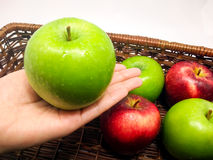 Παρακαλώ απολαύστε αυτήν την την πράσινη Apple Στοκ Εικόνες