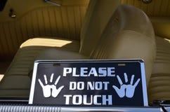 Παρακαλώ μην αγγίξτε το σημάδι Στοκ Φωτογραφίες