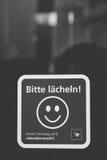 Παρακαλώ χαμογελάστε Στοκ φωτογραφίες με δικαίωμα ελεύθερης χρήσης