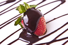 παρακμιακή φράουλα επιδορπίων σοκολάτας Στοκ φωτογραφίες με δικαίωμα ελεύθερης χρήσης