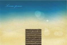 Παραλία άμμου θάλασσας ήλιων με το έντονο φως Στοκ εικόνες με δικαίωμα ελεύθερης χρήσης