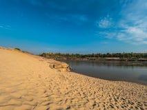 Παραλία άμμου σε Ubonratchathani, μεγάλο φαράγγι της Ταϊλάνδης στοκ εικόνες με δικαίωμα ελεύθερης χρήσης
