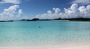 παραλία άμμου στις Μπαχάμες Στοκ Εικόνες
