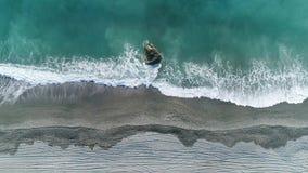 Παραλία άμμου της εναέριας άποψης κόλπων Dong'ao απόθεμα βίντεο