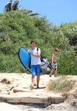 παραλία άφιξης η κυματωγή &gamma Στοκ εικόνες με δικαίωμα ελεύθερης χρήσης