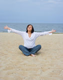 παραλία έγκυος Στοκ εικόνες με δικαίωμα ελεύθερης χρήσης