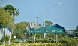 Παραλία Αγίου Augustine, ST Augustine Φλώριδα στοκ εικόνες