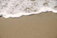 παραλία ανασκόπησης αμμώδ&eta Στοκ Φωτογραφίες
