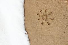 παραλία ανασκόπησης ηλιό&lambda Στοκ Εικόνα