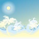 παραλία ανασκόπησης διανυσματική απεικόνιση