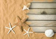 παραλία ανασκόπησης Στοκ Εικόνες